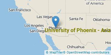 Location of University of Phoenix - Arizona