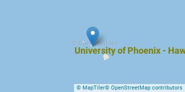 Location of University of Phoenix - Hawaii