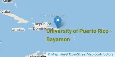 Location of University of Puerto Rico - Bayamon