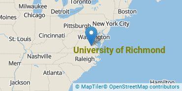 Location of University of Richmond