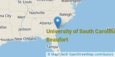 Location of University of South Carolina - Beaufort