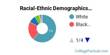 University of South Carolina - Beaufort Undergraduate Racial-Ethnic Diversity Pie Chart