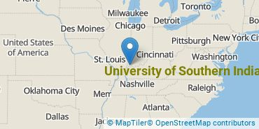 Location of University of Southern Indiana