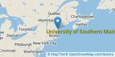 Location of University of Southern Maine