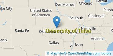 Location of University of Tulsa