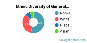 Ethnic Diversity of General Architecture Majors at University of Virginia - Main Campus