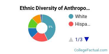 Ethnic Diversity of Anthropology Majors at University of Virginia - Main Campus