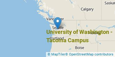 Location of University of Washington - Tacoma Campus
