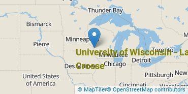 Location of University of Wisconsin - La Crosse