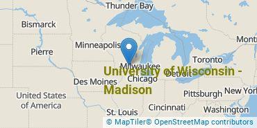 Location of University of Wisconsin - Madison