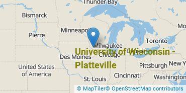 Location of University of Wisconsin - Platteville
