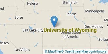 Location of University of Wyoming