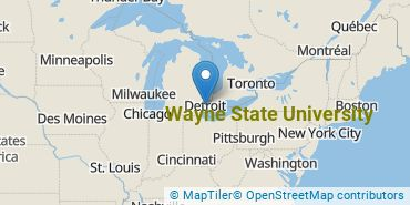 Location of Wayne State University