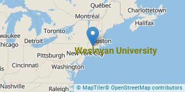 Location of Wesleyan University