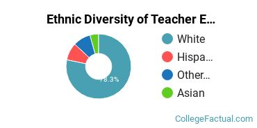 Ethnic Diversity of Teacher Education Grade Specific Majors at Western Connecticut State University