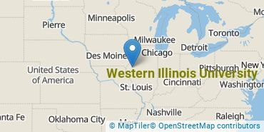 Location of Western Illinois University
