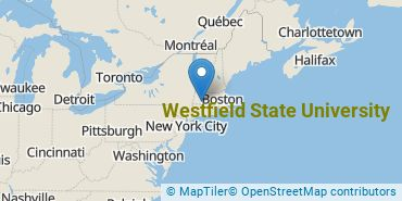 Location of Westfield State University