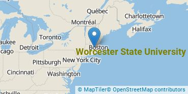 Location of Worcester State University