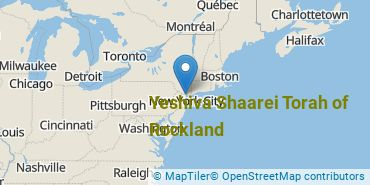 Location of Yeshiva Shaarei Torah of Rockland